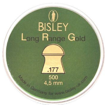Bisley Long Range Gold Pellets Tin 500 (4.5mm) .177 Calibre